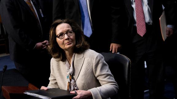 CIA nominee Gina Haspel leaves after a public portion of her confirmation hearing before the Senate Select Intelligence Committee on Capitol Hill May 9, 2018 in Washington, DC.