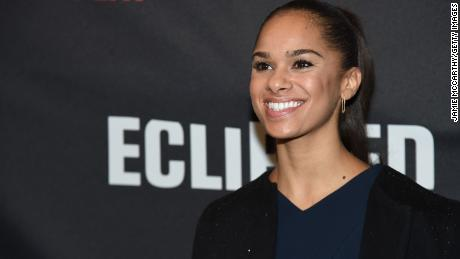 "NEW YORK, NY - FEBRUARY 23:  Ballet Dancer Misty Copeland attends the first preview of ""Eclipsed"" on Broadway at the Golden Theatre on February 23, 2016 in New York City.  (Photo by Jamie McCarthy/Getty Images)"