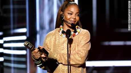 LAS VEGAS, NV - MAY 20:  Honoree Janet Jackson accepts the Icon Award onstage during the 2018 Billboard Music Awards at MGM Grand Garden Arena on May 20, 2018 in Las Vegas, Nevada.  (Photo by Kevin Winter/Getty Images)