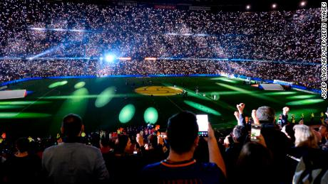 Fans remained in the stadium long after the final whistle had blown for a special ceremony