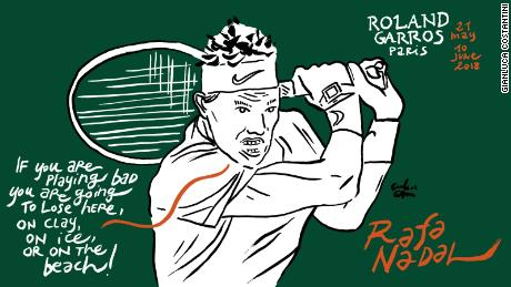 Rafael Nadal French Open Roland Garros Gianluca Costantini