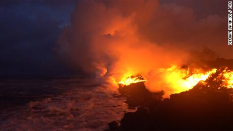 Lava reaches the Pacific, only to create another deadly danger