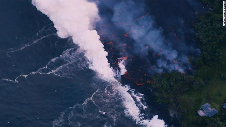 See lava from Hawaii volcano reach the ocean