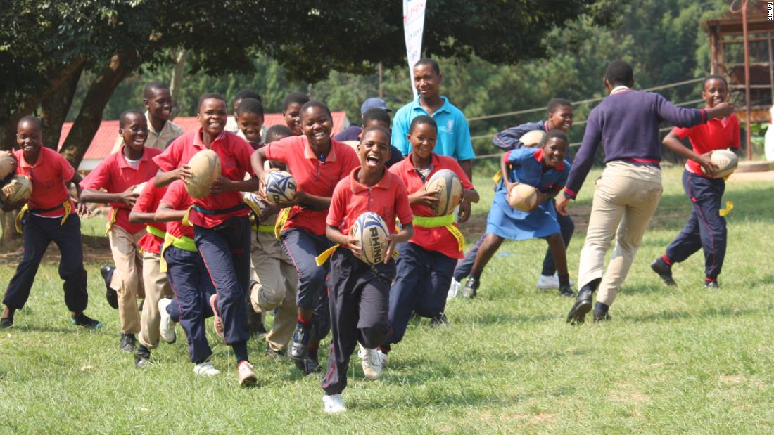"With the motto ""pass the ball, not the virus,"" SKRUM uses rugby as a way to understand and prevent the contraction of HIV and Aids amongst young people. As Collinson says, ""you remember something far more if you learned it when you were happy."""