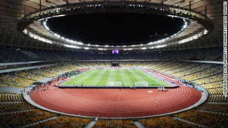 The capacity of the stadium has been decreased from 70,000 to 63,000 for the final.