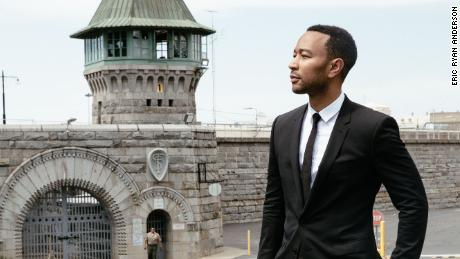 John Legend, as part of his listening and learning tour, visited Folsom State Prison to meet with incarcerated individuals and staff and to learn about some of their re-entry programs.