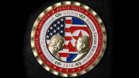Coins marking the North Korean summit hit a bump and sparked a few jokes with the meeting