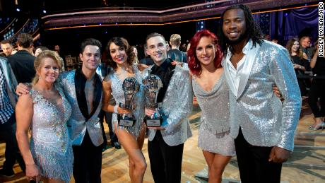 "DANCING WITH THE STARS: ATHLETES - ""Episode 2604"" - After three weeks of stunning competitive dancing, the final three couples advance to the finals of ""Dancing with the Stars: Athletes,"" live on MONDAY, MAY 21 (8:00-9:00 p.m. EDT), on The ABC Television Network. (ABC/Kelsey McNeal)