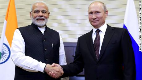 India S Modi Hails Old Time Friend Russia During Putin Summit Cnn