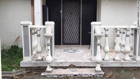 Pictures of the shrapnel damage to a property in Lalor, Melbourne, due to a gang warfare grenade attack - also shows the small court where shocked neighbors spoke.