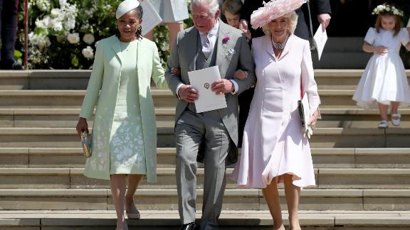 Doria Ragland, Prince Charles, and his wife Camilla, Duchess of Cornwall, after the wedding.