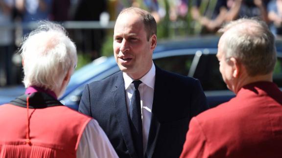 Britain's Prince William attends the memorial service.