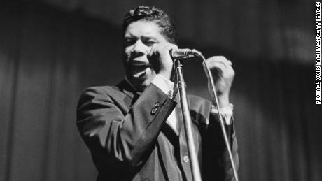 NEW YORK - 1961:  R&B singer Ben E. King performs at the Apollo Theatre in 1961 in New York, New York.  (Photo by Don Paulsen/Michael Ochs Archives/Getty Images)