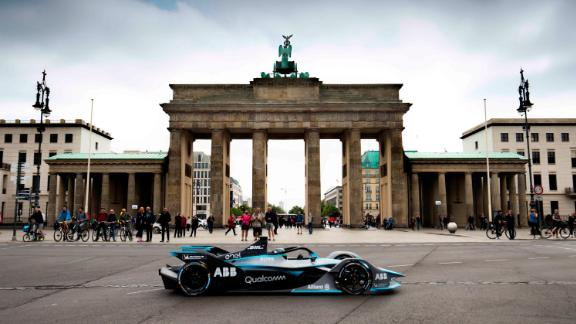 Former Formula One world champion Nico Rosberg treated fans at the Berlin E-Prix with the first public demonstration of the futuristic Gen 2  car. It will be raced in the all-electric Formula E series for its fifth season, which starts later this year.