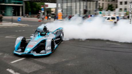 """It is a huge step in technology and innovation,"" Rosberg told CNN's Superchaged. ""It was exciting to drive through the city -- through my capital city -- past the landmarks, and I did a donut as well in the middle of the city, so that was cool."""