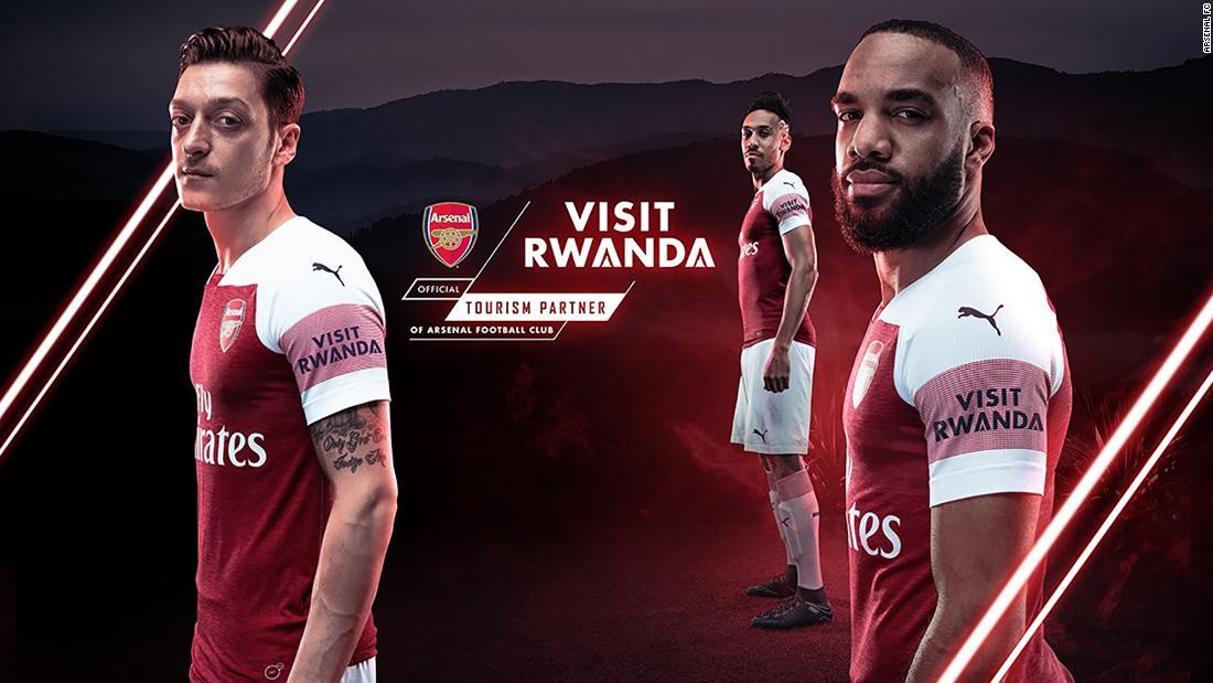 a129b86b37a Arsenal signs shirt-sponsorship deal with Rwanda - CNN