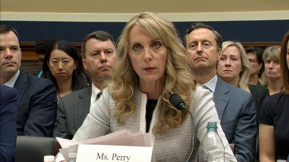 USA Gymnastics CEO Kerry Perry spoke before Congress as part of a House hearing hearing examining the Olympic community