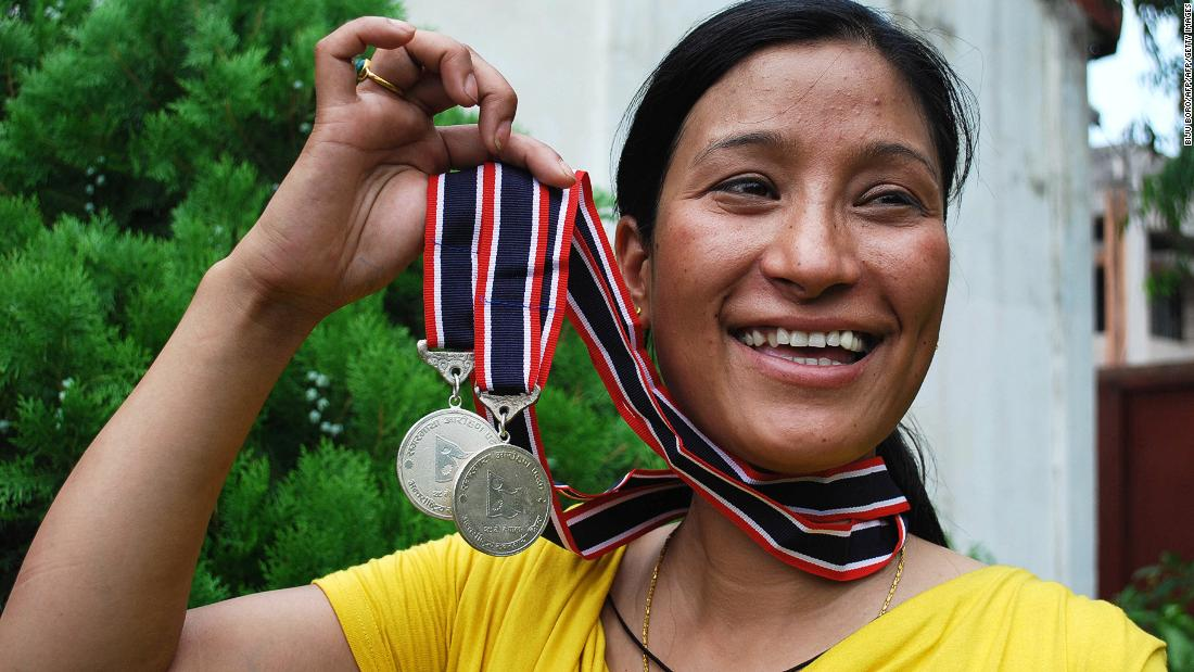 "Indian mountaineer Anshu Jamsenpa successfully ascended Mount Everest <a href=""https://edition.cnn.com/2017/09/11/asia/her-india-anshu-jamsenpa/index.html"">twice in five days</a> in 2017, making her the first woman to do so."