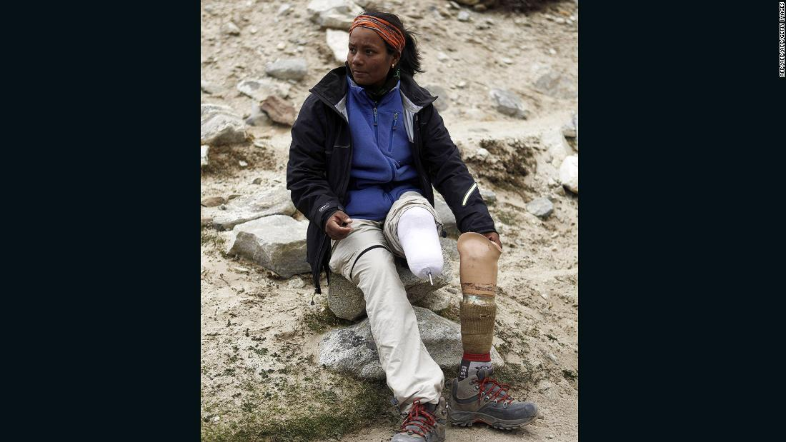 "Indian mountaineer Arunima Sinha, who had her leg amputated below the left knee after she was thrown from a moving train, became the <a href=""http://www.thehindu.com/news/national/arunima-is-first-woman-amputee-to-scale-everest/article4736281.ece"" target=""_blank"">first female amputee to conquer Everest</a> in May 2013."