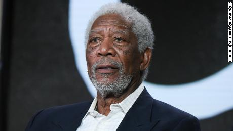 "Actor Morgan Freeman participates in the ""The Story of God"" panel at the National Geographic Channel 2016 Winter TCA on Wednesday, Jan. 6, 2016, in Pasadena, Calif. (Photo by Richard Shotwell/Invision/AP)"