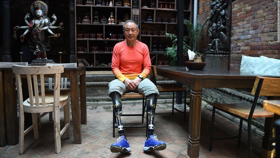 Chinese double amputee climber Xia Boyu, who lost both of his legs during first attempt to climb Everest, finally reached the summit of the world's highest peak in May 2018. He became the first double amputee to summit from the Nepalese side, and the second double amputee to make it to the top.