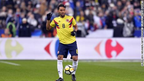 PARIS, FRANCE - MARCH 23:  Abel Aguilar of Colombia runs with ball during the international friendly match between France and Colombia at Stade de France on March 23, 2018 in Paris, France.  (Photo by Aurelien Meunier/Getty Images)