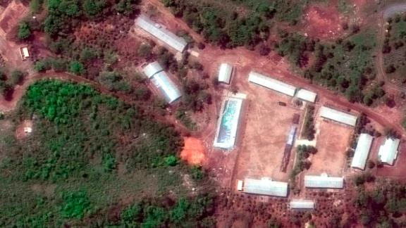 A May 23 satellite image provided by DigitalGlobe shows the Punggye-ri test site.
