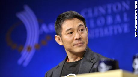 Jet Li listens at the Clinton Global Initiative in Hong Kong on December 3, 2008.