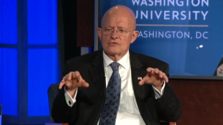 Clapper suggests 'parallelism' in actions of Russia, Trump campaign