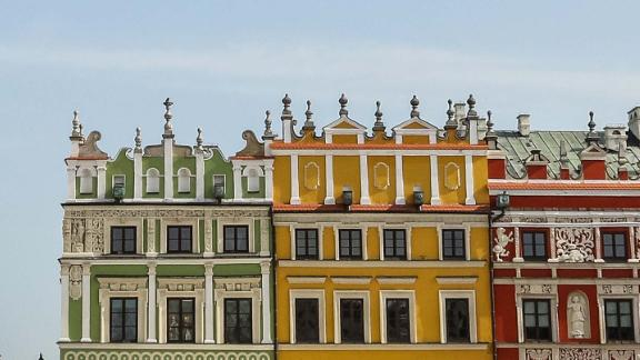 Zamosc, Poland: The Renaissance town of Zamosc, with its Great Market Square and impressive 17th-century Town Hall (pictured left), is one of southeast Poland