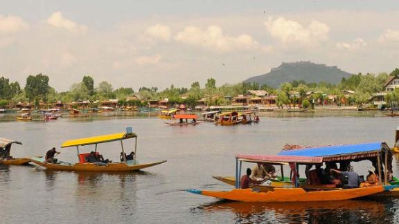 """Srinagar, Kashmir: Dubbed the """"jewel in the crown of Kashmir,"""" Dal Lake is one of the chief attractions in Srinagar, the summer capital of Jammu and Kashmir."""