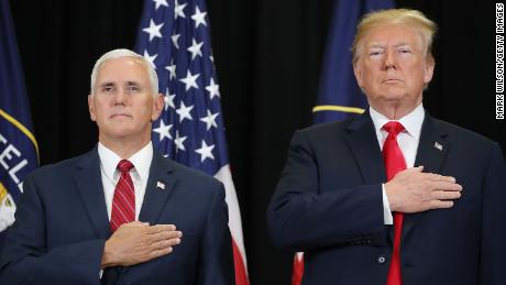 LANGLEY, VA - MAY 21: U.S. President Donald Trump (R) and Vice President Mike Pence participate in the swearing-in ceremony for Gina Haspel to be CIA director at agency headquarters, May 21, 2018 in Langley, Virginia. Last week the Senate confirmed Haspel to replaced Mike Pompeo who was sworn in as Secretary of State earlier this month.  (Photo by Mark Wilson/Getty Images)