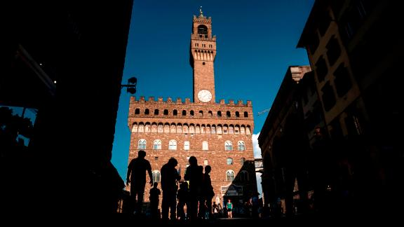 Florence, Italy: Construction on Palazzo Vecchio, Florence