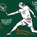 alexander zverev french open cartoon