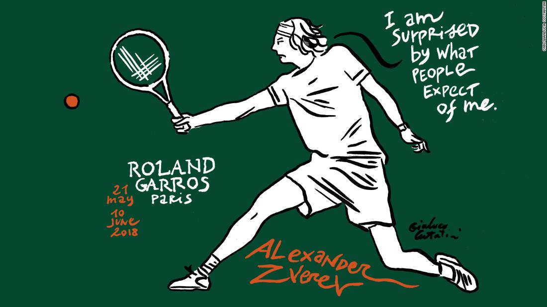 Young German Alexander Zverev is touted as the future of tennis but has struggled at grand slams so far in his career, his best result being the fourth round.