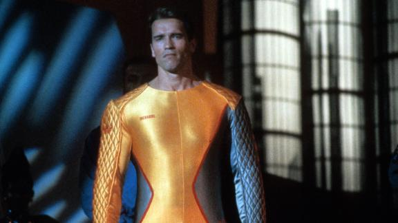 """The Running Man"" : Arnold Schwarzenegger stars in this film about  a man wrongly convicted who must try to survive a public execution gauntlet staged as a game show. (Amazon Prime, Hulu)"