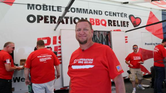 CNN Hero Stan Hays and Operation BBQ Relief put their passion to use at the Invincible Spirit Festival