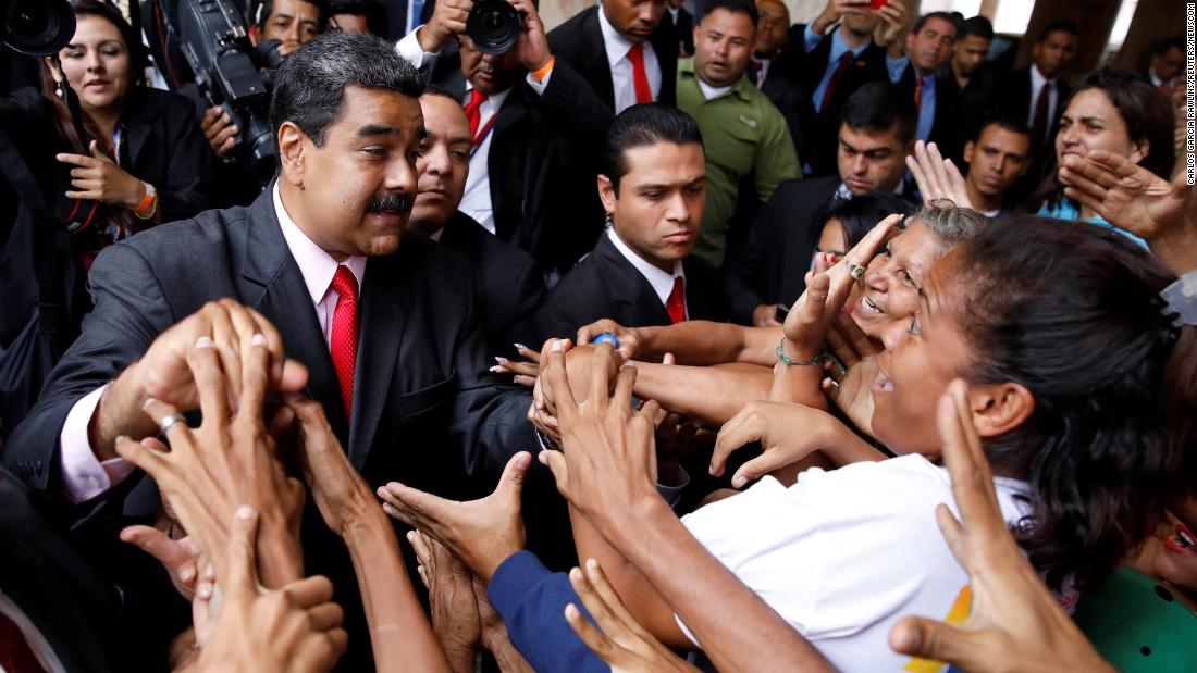 "Venezuelan President Nicolas Maduro greets supporters after winning re-election on Tuesday, May 22. Some other countries, including the United States, <a href=""https://www.cnn.com/2018/05/20/americas/venezuela-elections/index.html"" target=""_blank"">denounced the election as a sham,</a> however, and the main opposition coalition boycotted the election."