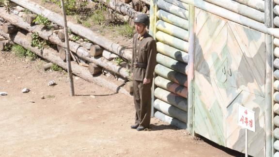 The entrance to tunnel 4, an unused tunnel that North Koreans say was ready to conduct advanced nuclear weapons tests.