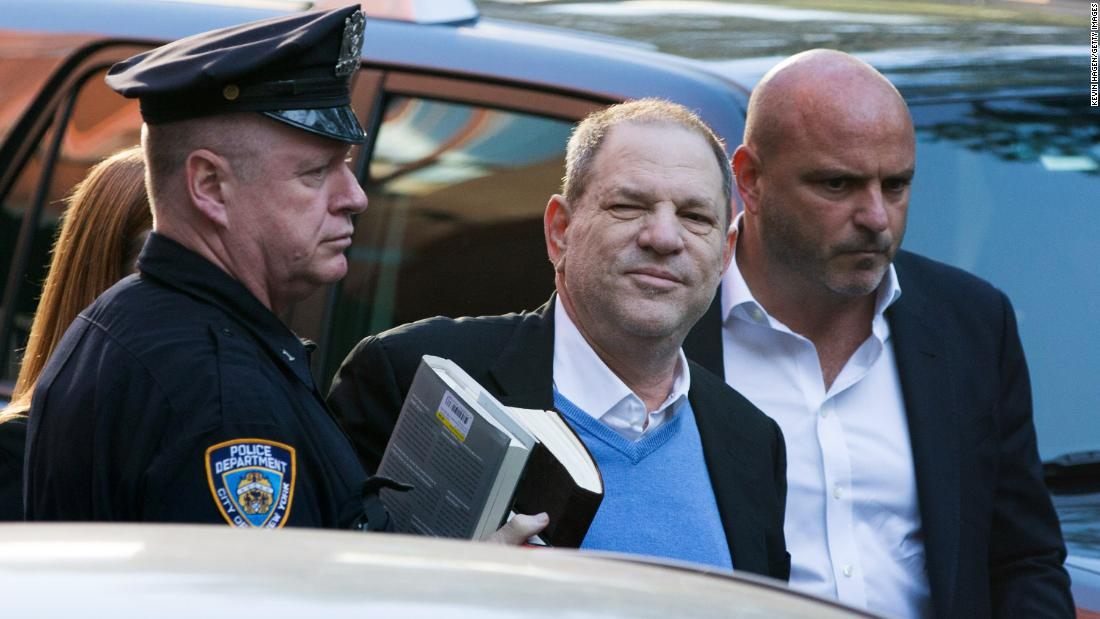 "Harvey Weinstein <a href=""https://www.cnn.com/2018/05/25/entertainment/harvey-weinstein-to-surrender/index.html"" target=""_blank"">turns himself in</a> to the New York Police Department's First Precinct on Friday, May 25 in New York City. Manhattan prosecutors will charge the disgraced Hollywood producer with first- and third-degree rape in one case and a first-degree sex act in a second case, a source said."