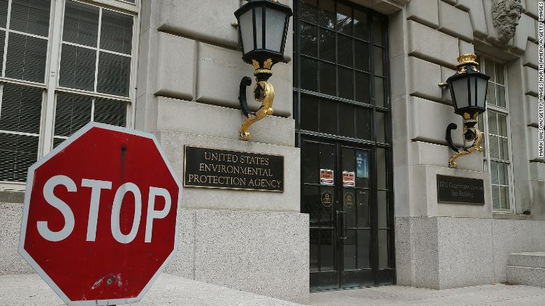 WASHINGTON, DC - MAY 24:  A stop sign stands outside the Environmental Protection Agency (EPA) building on May 24, 2013 in Washington, DC. The EPA is one of at least four federal agencies that is closed today due to the automatic sequestration cuts forced government agencies giving employee's an unpaid furlough.  (Photo by Mark Wilson/Getty Images)