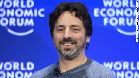 Google co-founder Sergey Brin smiles during a session of the World Economic Forum, on January 19, 2017 in Davos. / AFP / FABRICE COFFRINI        (Photo credit should read FABRICE COFFRINI/AFP/Getty Images)