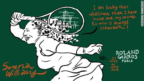 Serena Williams French Open Roland Garros sketch