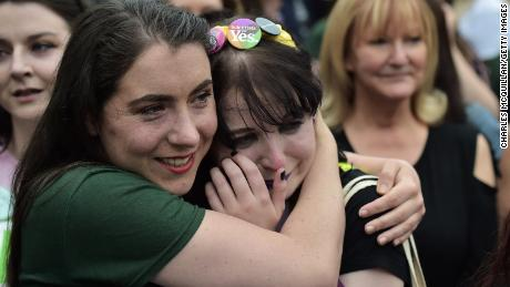 Yes voters celebrate after Ireland votes to repeal the 8th Amendment, paving the way for legalized abortion.