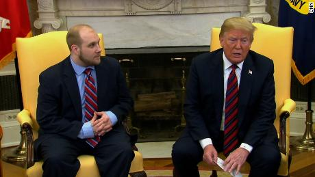 Josh Holt President Trump at WH