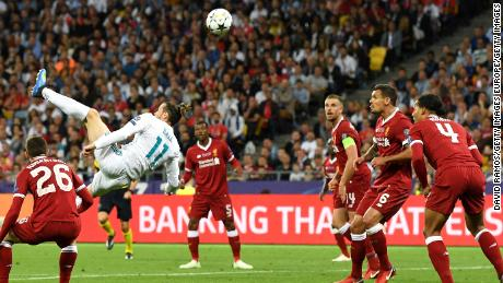 Real Madrid's Gareth Bale scored the winning goal in the Champions League final with a superb overhead kick.