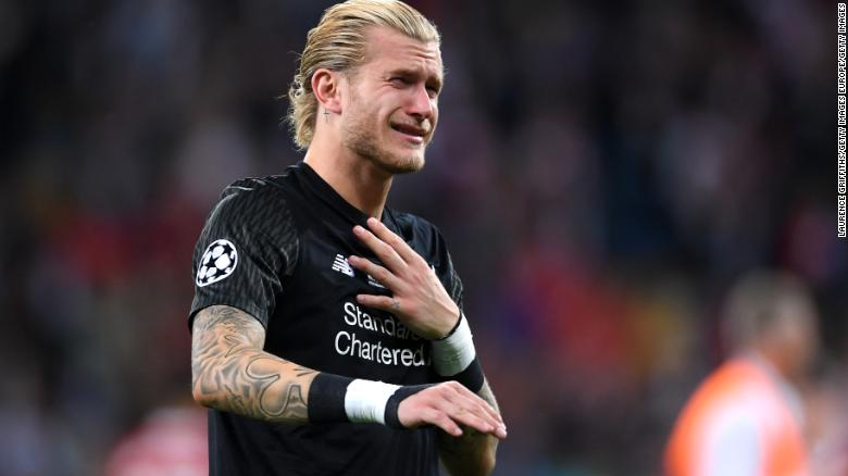 "Karius has said he is ""infinitely sorry"" for his mistakes."