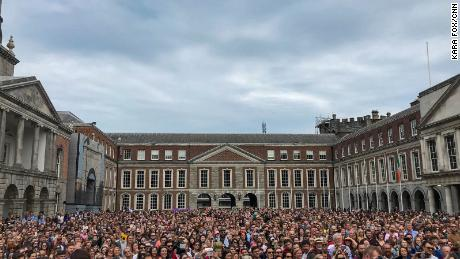 Yes voters filled Dublin Castle on Saturday.