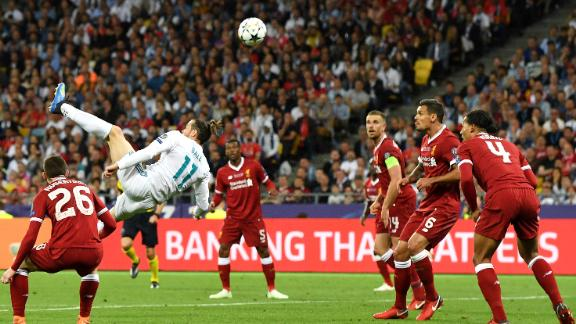 Gareth Bale lit up the 2018 Champions League final with a stunning goal from his overhead kick.