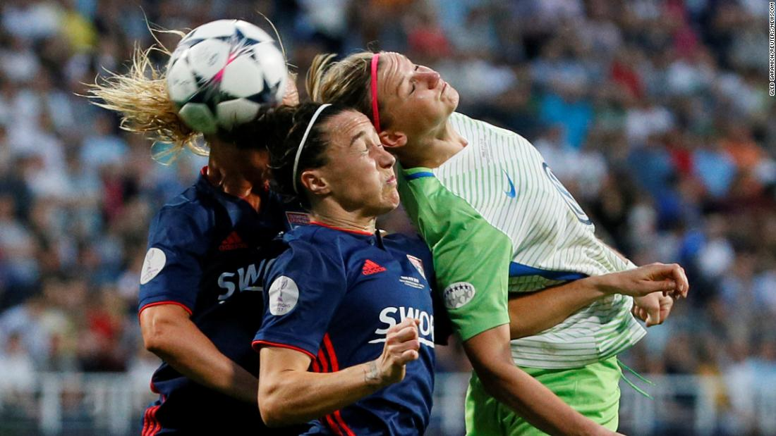 Olympique Lyonnais squared off against VfL Wolfsburg in the Women's Champions League Final in Kiev, Ukraine, on on Thursday, May 24.